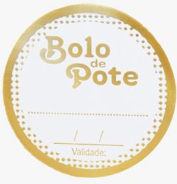 Etiquetas - Bolo de Pote (Pcte c/ 50 unds)
