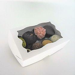 Caixa 06 a 08 doces - Visor Decorado